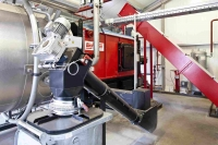 Umweltfreundliche Wärme für Imprägnierwerk Basierend auf einer über 100-jährigen Tradition werden im Holzschwellenwerk der Thyssen-Krupp GfT
